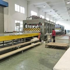 青岛国森品牌压制蜂窝复合板材流水线