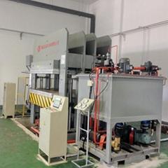 多层碳纤维布层压成碳纤维板热压机设备