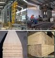 Press for bamboo strand woven board