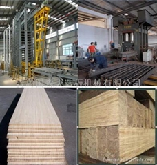 Press for bamboo strand woven board production line