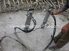 hydraulic rock splitter and concrete splitter