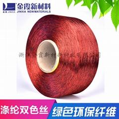 Colorful Fancy Polyester Bicolor, multicolor composite yarn