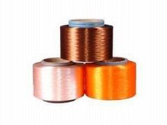 织带用涤纶仿尼龙色丝 色纱