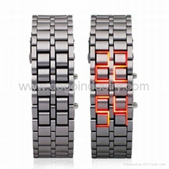Iron Samurai Japanese Inspired Red LED Watch(FW-804)