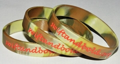 Colorfilled Silicone Wristbands Promotion Gifts