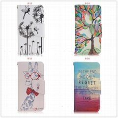 PU Leather Wallet Protective Flip Case Cover for Apple Iphone 5 5s