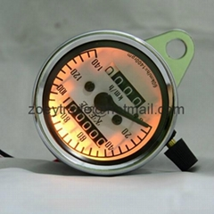 Universal Dual Odometer Speedometer Meter Night light Fit All Motorcycle New
