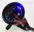 3 light LED speedometer black shell