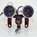 motorcycle LED universal speedometer RPM
