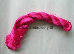 Hand-dyed natural mulberry silk embroidery floss threads