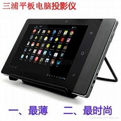 三浦投影仪16G微型迷你DLP家用商用WiFi安卓系统