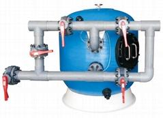 供應HOL后浪大型泳池景觀水處理側式沙缸過濾器