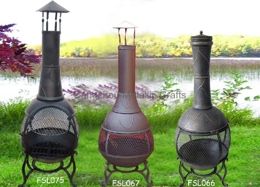 Beautiful CMC 360 Degree Chiminea Outdoor Fireplace