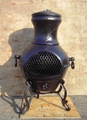 CMC Cast Iron Chiminea And Steel Fire Basket