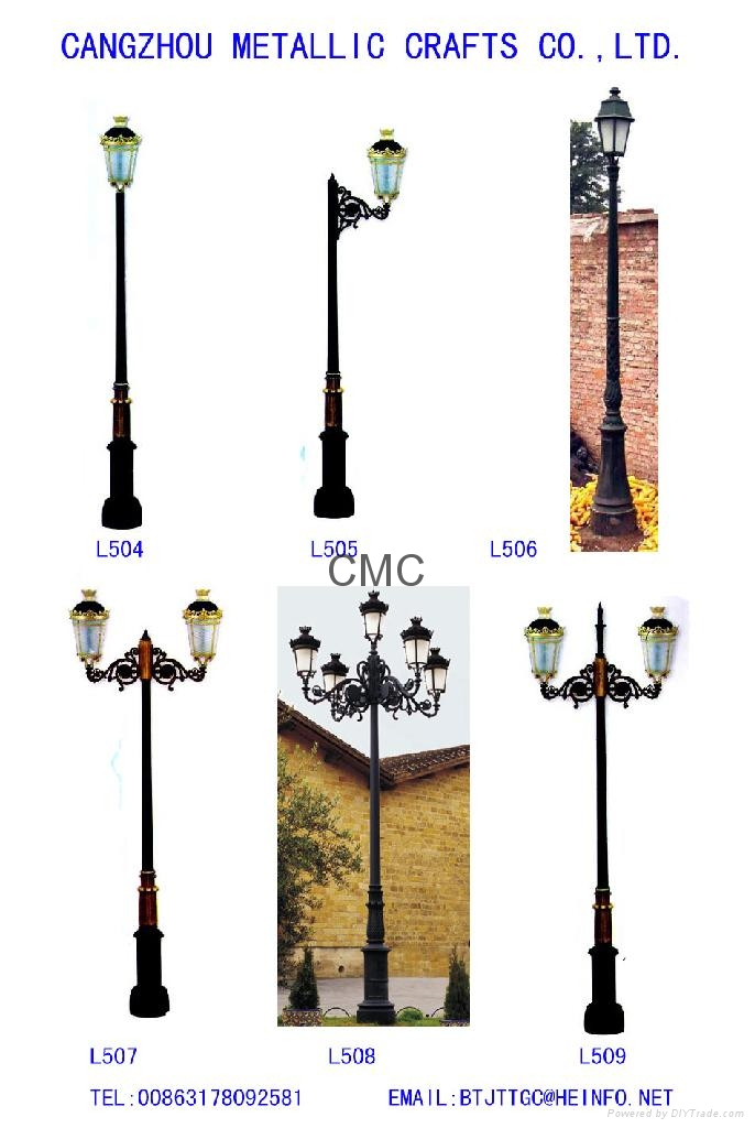 cast iron LED street lighting poles - China