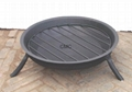 CMC Steel Firebakset and Cast Iron Firepit