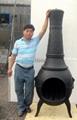 CMC Cast Iron Chiminea and Steel Firebasket