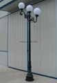 cast aluminum and iron LED gardon or street light post