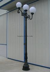cast aluminum and iron LED gardon or street light post