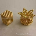 Ndfeb Magnetic sphere of Gold coating and Neocube 1