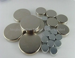 Dish NdFeB magnet of 3Cr+Zn coating for Speaker