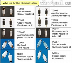 Nozzle unit for Slim Electronic Lighter