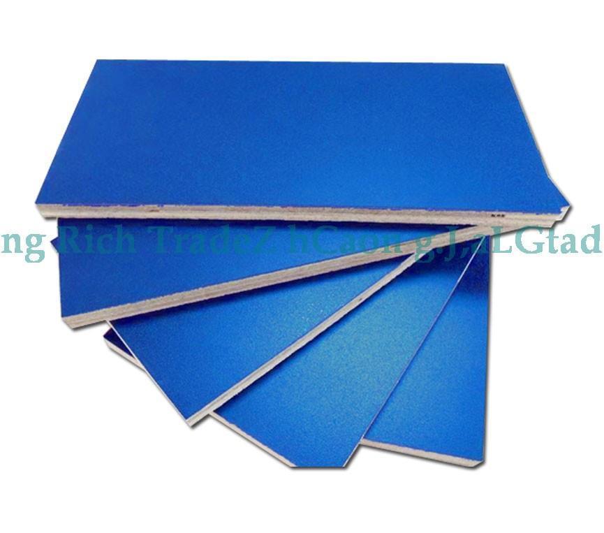 Blue HPL plywood