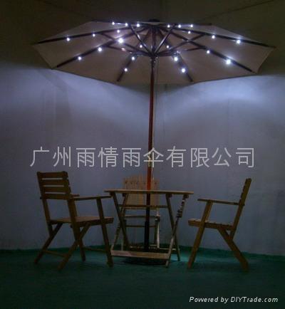 太陽能庭院傘.太陽能太陽傘 1