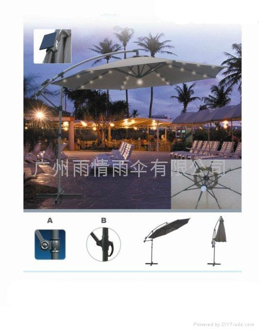 太陽能庭院傘.太陽能太陽傘 2