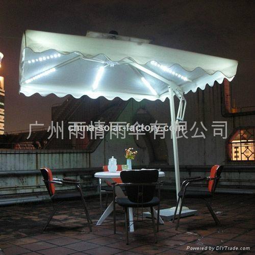 太陽能庭院傘.太陽能太陽傘 3
