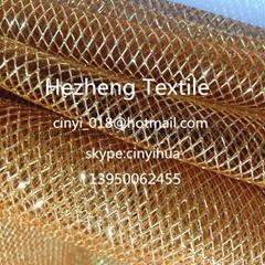 honeycomb mesh, flower wrapper mesh, metallic mesh, metallic tulle,