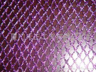 gold metallic mesh fabric  1