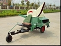 Towable axial flow rice thresher
