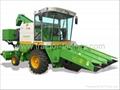 Self-propelled corn combine harvester