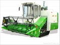 Crawler Full feed rice combine harvester