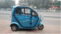 Tricycle electric car with battery