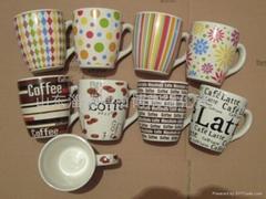咖啡杯 陶瓷促销杯 广告杯淄博陶瓷礼品杯
