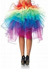jolly costume rainbow tulle skirt