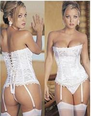 elegant sexy lingerie jacquard snowflake corset