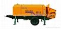 stationary concrete pump,trailer