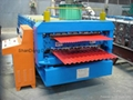 Double sheet Tile Roll forming machine Glazed Tile Roll making Machine