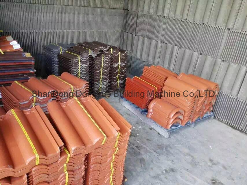 cement roof tile making machine/machinery / full automatic tile production line 4