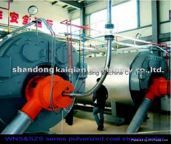 WNS&SZS series coal fired instant pu  erized coal steam and hot water boiler 1