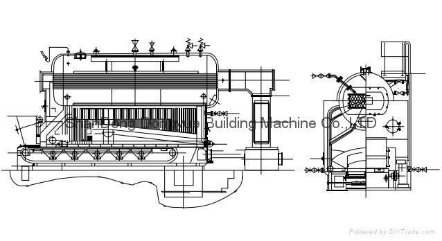CE Approval DZL Series Package Steam / Hot Water Boiler 4