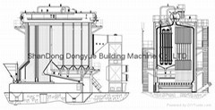 china hot selling 35ton to 130 ton sequence chain grate boiler
