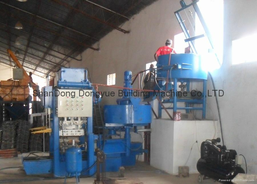 Roof Cement Tiles Press Machine/Concrete Roofing Tiles Machine Factory Price 6