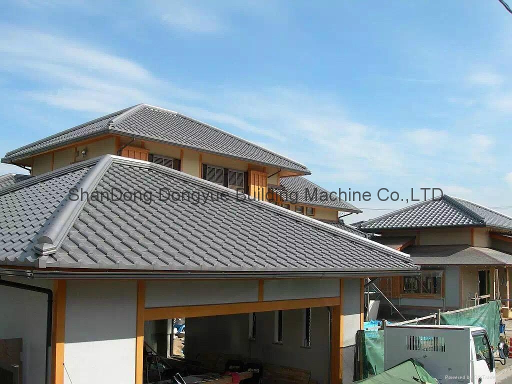 Roof cement tiles press machine concrete roofing tiles for Cost of building a roof