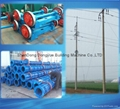 High strength concrete pole machine and