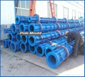 Advanced two-line pre-stressed or reinforced spun concrete pole machine