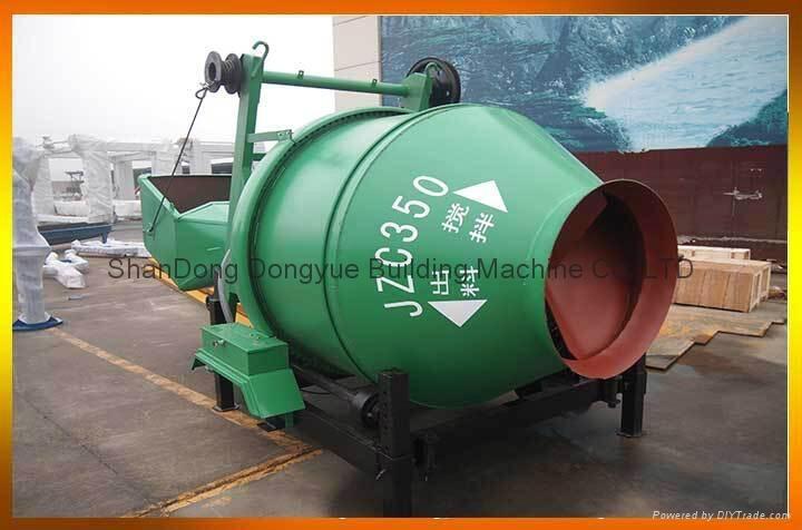 JZC350 used cement mixer concrete machinery,gasoline portable concrete